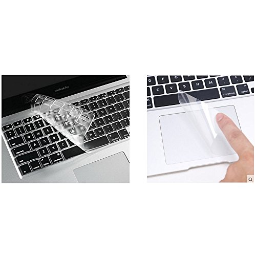 Amazon i-Buy High Clear TPU Keyboard Cover Film for Macbook Air 13 Pro 13 Pro 15+ Touchpad Protector[teclado QWERTY español]- TPU Clear