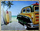 Beach Woody Surf Board Sign by Desperate Enterprises