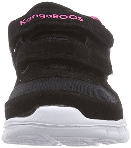 KangaROOS BlueKids 2082, Sneakers basses fille Noir (Black/Magenta 560)