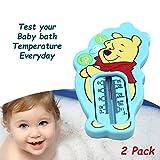 """Schwimmendes Thermometer im """"Winnie Puuh""""-Design, blau, zum Messen der Wassertemperatur, für mehr Sicherheit, 2 Stück"""