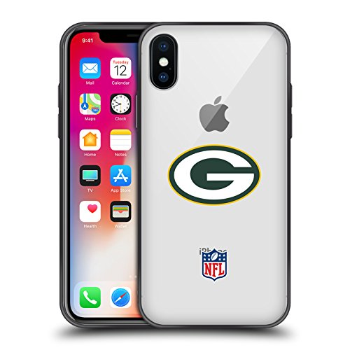 Head Case Designs Offizielle NFL Einfarbig Green Bay Packers Logo 2 Skinny Fit Hybride Durchsichtig Hülle für iPhone X/iPhone XS Green Apple-designs