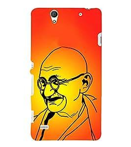 PrintVisa Mahatma Gandhi 3D Hard Polycarbonate Designer Back Case Cover for Sony Xperia C4 Dual :: Sony Xperia C4 Dual E5333 E5343 E5363