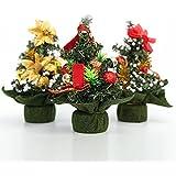AIMADO 20 Cm Mini Weihnachtsbaum Ornament Niedliche Weihnachtssankt Hang  Dekor Verzierungen Schaum Baum Weihnachtsdeko (Gold
