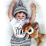 Nlatas 55cm Lebensechte Puppen Babys, Qualität Reborn Puppe Junge,Sieht Sehr Echt Aus
