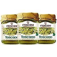 Salsa al Pesto Toscano 3 paquetes de 190 g - i Toscani. Sin CONSERVAS añadidos, Italia.