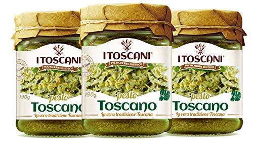 Sauce au Pesto Toscan 3 paquets de 190 g - i Toscani. Sans conservateurs ajoutés,...