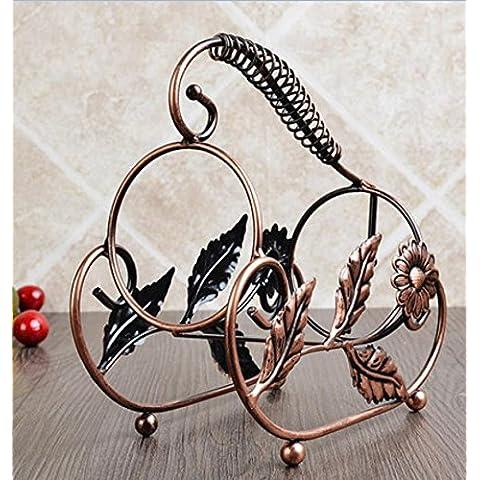 Ornamenti in ferro battuto d'epoca portabottiglie vino creativo porta bottiglie