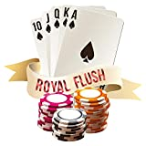 "I-love-Wandtattoo WAS-10712 autocollant mural salon ""Cartes à jouer Poker Royal Flush"" Motif de Poker pour Sticker Casino Wall Decal Poker Lounge Sticker Mural Poker Club Autocollant Décoration Murale"