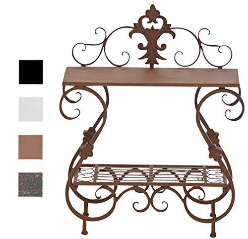 CLP Eisentisch AURICA im Jugendstil I Robuster Gartentisch mit kunstvollen Verzierungen I In verschiedenen Farben erhältlich Antik Braun