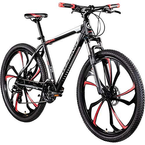 Galano 650B MTB Hardtail Mountainbike 27,5 Zoll Primal Fahrrad Mountain Bike (schwarz/rot, 48 cm)