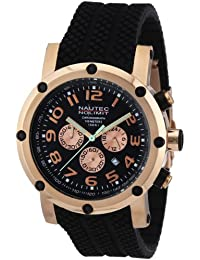 Nautec No Limit Herren-Armbanduhr XL Firth Chronograph Quarz Kautschuk FI QZ2/RBRGRGBK