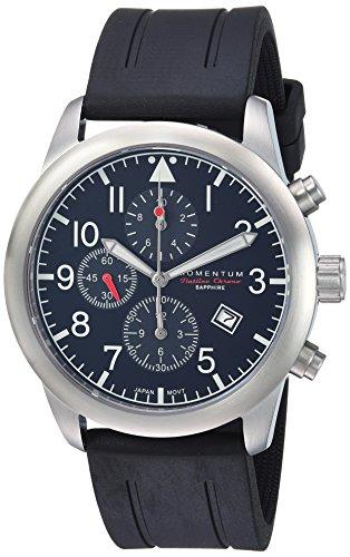 Momentum Men's Analog Japanese-Quartz Watch with Rubber Strap 1M-SN34BS1B