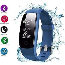 Mishuai Correa de Silicona Deportes Pulsera Inteligente Reloj Inteligente a Prueba de Agua (Color :