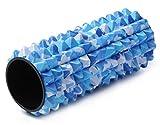 Yogistar Unisexe professionnel fascias Massage Rouleau de Spike, Mixte, Profi Faszien Rolle/ Massage Rolle - Spike, camouflage-Blue