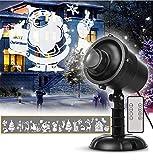 Domc 3D-Muster Projektorlicht - Weihnachtslandschaft Projektionslampe, IP65 Wasserdicht, Kann Es Für Partydekoration Verwendet Werden Hochzeit, Party, Urlaub, Garten, Bar