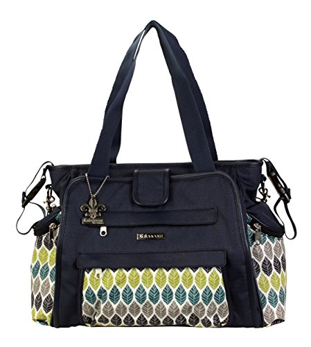 kalencom-nola-tote-changing-bag-navy-feathers