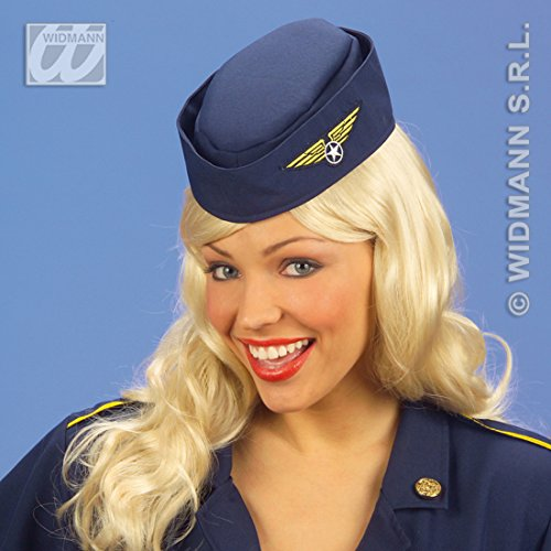 NET TOYS Stewardess Haube Hut Flugbegleiterin Schiffchen Kappe Käppie Mütze Stewardesshaube Fasching ()