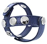 Strict Leather Blue Leather Cock and Ball Harness