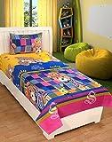 ZAIN COTTON SINGLE BED SHEET WITH 1 PILLOW COVER, CARTOON DESIGN