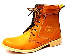 Guava Mens Tan Synthetic Boots (GV14J022-6) - 6 UK