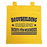 Einkaufstasche mit Fittness-Motiv - Bodybuilding - Extremsport - Nichts für Weicheier - Lustige Geschenkidee