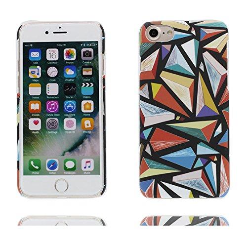 Custodia iPhone 7 Plus , iPhone 7 Plus copertura (5.5 pollici) | Gel durevole TPU morbido protettivo Case posteriore Stars Polvere anti shock | Nero Marte # 1