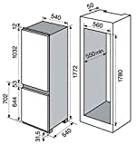 Electrolux RNN 2800 AOW Incasso 277L A+ Bianco frigorifero con congelatore, Senza installazione