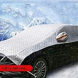 Z-W-DONG Coprire la metà auto, oversize impermeabile Neve copertura esterna parcheggio copertura di ghiaccio, Montare Proteggere il parabrezza e del tetto dell'automobile pratico (Color : Silver-A)