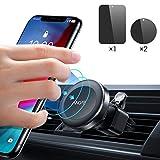 Support Téléphone Voiture, Support Téléphone Voiture Magnétique Support de Téléphone Universel avec Prise d'air pour Voiture, Compatible avec iPhone XR/XS Max, Galaxy S10/S10+/S10E et GPS d'Ainope