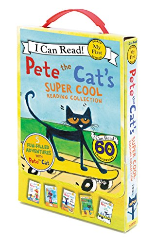 Pete the Cat's Super Cool Reading Collection: Too Cool for School/Play Ball!/Pete at the Beach/Pete's Big Lunch/A Pet for Pete (My First I Can Read)
