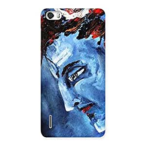 Delighted Mahadev Blue Color Print Back Case Cover for Honor 6