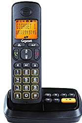 Gigaset A500A Black cordless landline phone with Answering Machine, caller id & speakerphone