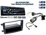 Mercedes C-Klasse (W203) Autoradio Einbauset *Schwarz* inkl. JVC KD-R871BT und Lenkrad Fernbedienung Adapter