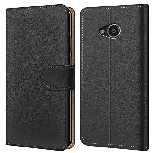 Conie BW7167 Basic Wallet Kompatibel mit HTC U Play, Booklet PU Leder Hülle Tasche mit Kartenfächer & Aufstellfunktion für U Play Case Schwarz