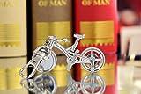 Silber Fahrrad Schlüsselanhänger Tasche einzigartig für Jungen und Mädchen Quarz Taschenuhr beobachten