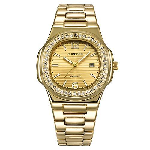 Winkey Herren Uhr, Herren Nautilus Völlig Strass Uhren Quarz Lced Out Gold Diamant Armbanduhr Geschenk