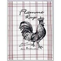Spiegelburg 94097 Paño Trapo de Cocina Estilo Francés de la Serie 'Le coq rouge' - Flamme Rouge