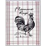 Spiegelburg, casa, tessile, giocattoli - asciugamano per il té - design: Flamme Rouge - il galletto