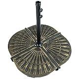 Woodside Sonnenschirmständer-Gewicht für Ampelschirme - Viertel-Segment - 4 Stück