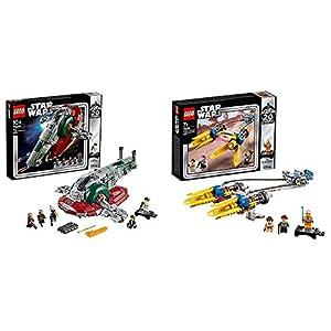 LEGO Star Wars - Vaina de Carreras de Anakin (75258) + Esclavo I, Edición 20 Aniversario, Juguete de Construcción de Nave Espacial de Boba Fett de la Guerra de Las Galaxias (75243)
