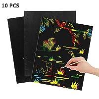 SMARTRICH Magic Scratch Art Painting Paper,26CM X 19CM -10 Sheets