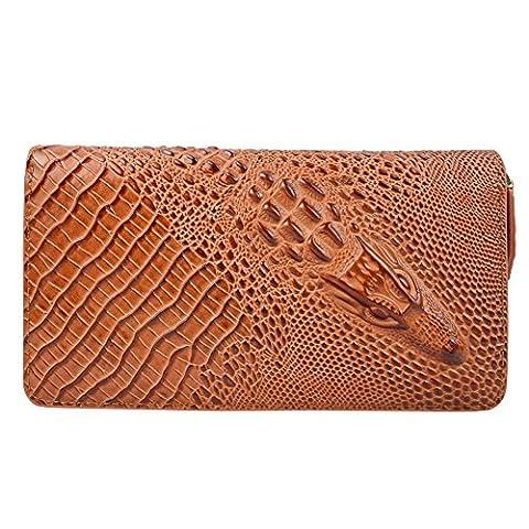 DJ-16005 parfait portefeuille brown avec fermeture de fa?on minimaliste et d