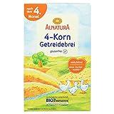 Alnatura Bio 4-Korn-Getreidebrei, glutenfrei, 6er Pack (6 x 250 g)