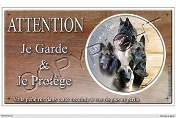 Panneau chien ou plaque Berger-Belge-Race 30 cm