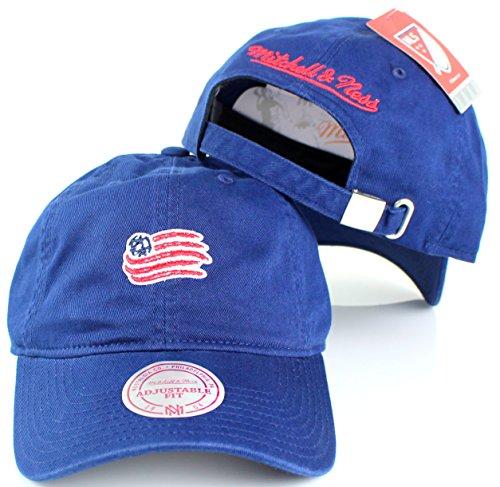 Mitchell & Ness New England Revolution MLS Baumwolle Verstellbarer Rückengurt Dad Hat (Usa-fußball-jersey-kinder)