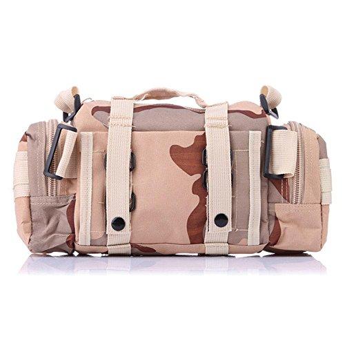 Obere Gebläse (Camouflage Taille Taschen Sport Outdoor Taktik Oxford Tuch schräg wasserdichte Umhängetasche , color 3 , 20*35*15cm)
