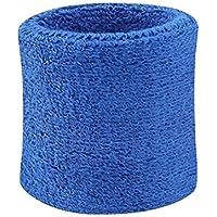 Sevenmye - Set di 2 polsini in spugna, per squash, badminton, palestra, calcio, Blue