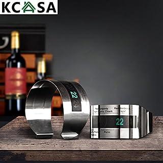 Aliciashouse KCASA LCD-Edelstahl-Wein-Armband Thermometer Kreative Weinthermometer
