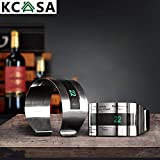 Aliciashouse KCASA LCD Vino Dell'Acciaio Inossidabile Bracciale Termometro Creativo Termometro Del Vino