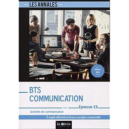 BTS Communication - Épreuve E5: Activités de communication